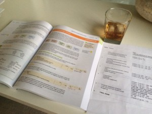 drinking and homework