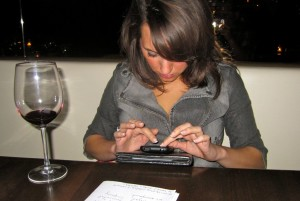 texting during drinks dinner