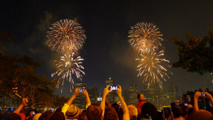 Drive downtown for fireworks